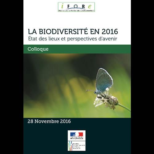 Colloque : la biodiversité en 2016