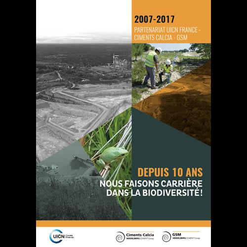 10 ans partenariat UICN France ciments Calcia GSM